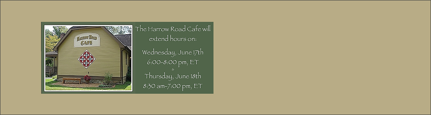 June 17 & 18: Cafe Extended Hours