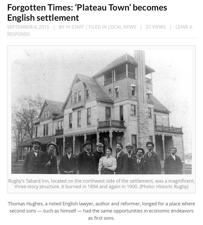 Forgotten Times: English retreat was first a Bostonian retreat