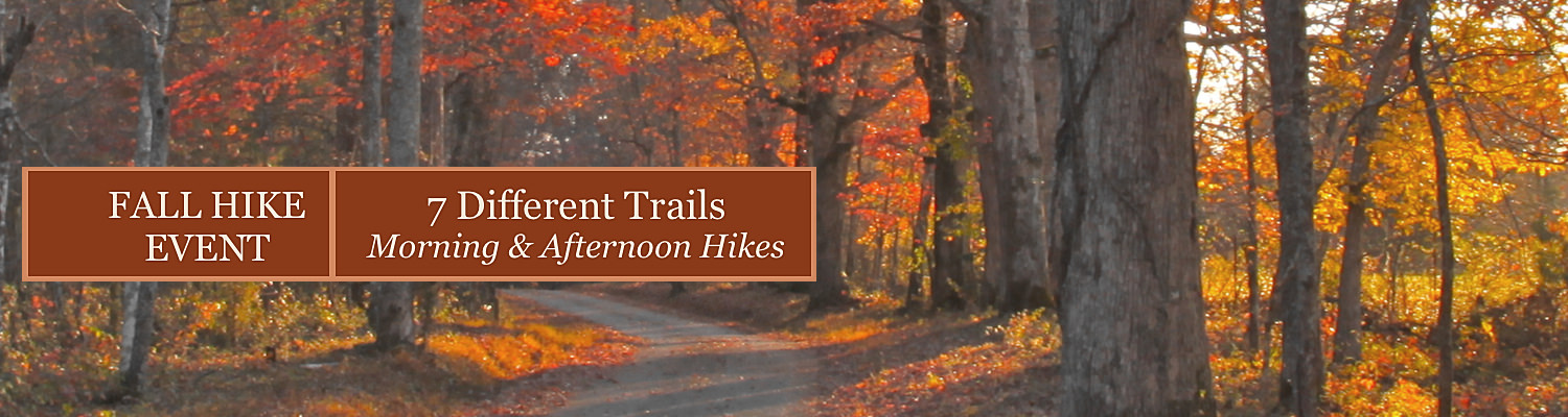 Fall Hiking Event Saturday, Oct. 24!