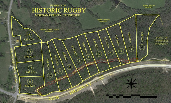 15 Lots for Sale at Rugby Absolute Auction, 10:00 am, Saturday, Oct 3.