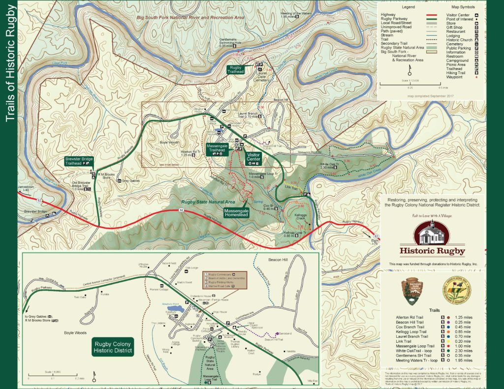 Rugby Trail Map