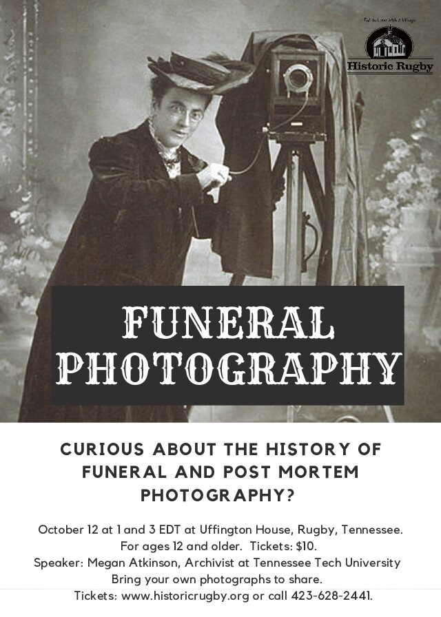 Post Mortem Photography Lectures, Oct. 12