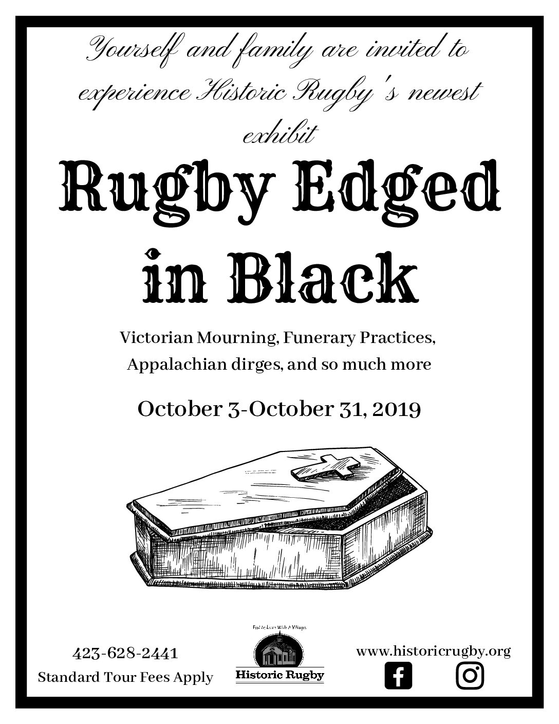 Rugby Edged in Black, Thursdays thru Mondays